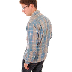 Vintage Mens Shadow Plaid Shirt 100% Cotton Pennleigh 1950s Med - The Best Vintage Clothing  - 2