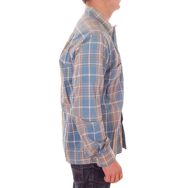Vintage Mens Shadow Plaid Shirt 100% Cotton Pennleigh 1950s Med - The Best Vintage Clothing  - 3