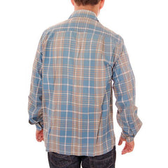 Vintage Mens Shadow Plaid Shirt 100% Cotton Pennleigh 1950s Med - The Best Vintage Clothing  - 4