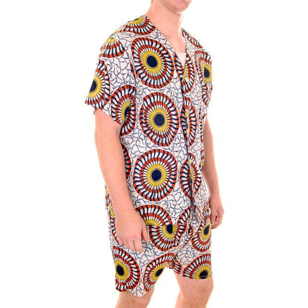 Vintage Mens Short Pajamas Wild Print 1950s Size Large Weldon - The Best Vintage Clothing  - 1