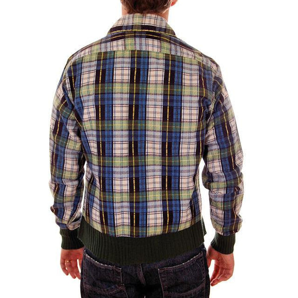 Vintage Mens Flannel Shirt w/Rib Knit Waistband 1970s Small - The Best Vintage Clothing  - 3