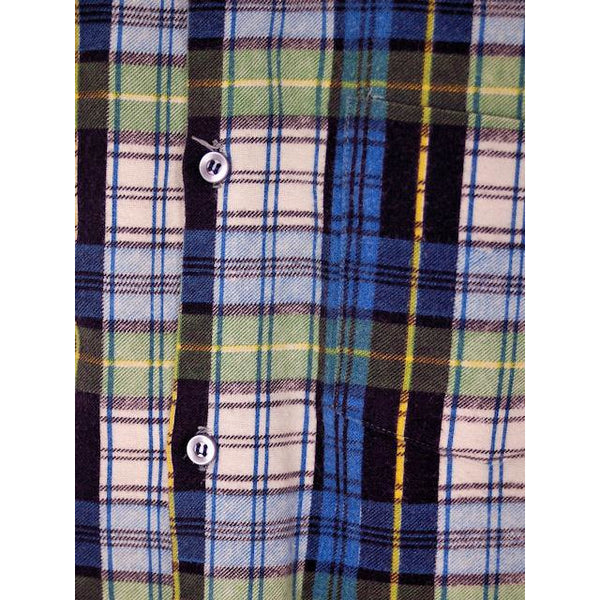 Vintage Mens Flannel Shirt w/Rib Knit Waistband 1970s Small - The Best Vintage Clothing  - 4
