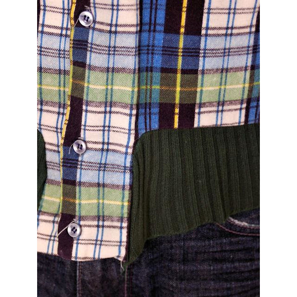 Vintage Mens Flannel Shirt w/Rib Knit Waistband 1970s Small - The Best Vintage Clothing  - 5