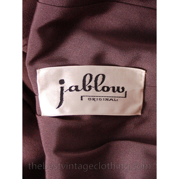 Jablow Suit Vintage 1950s Gray Womens Day Suit Damaged Costume 40-27-41 - The Best Vintage Clothing  - 7