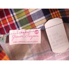 Vintage 1960s 3 Pc Suit  Sears Junior Bazaar Plaid Jacket Culottes Pants Sz S NOS - The Best Vintage Clothing  - 8