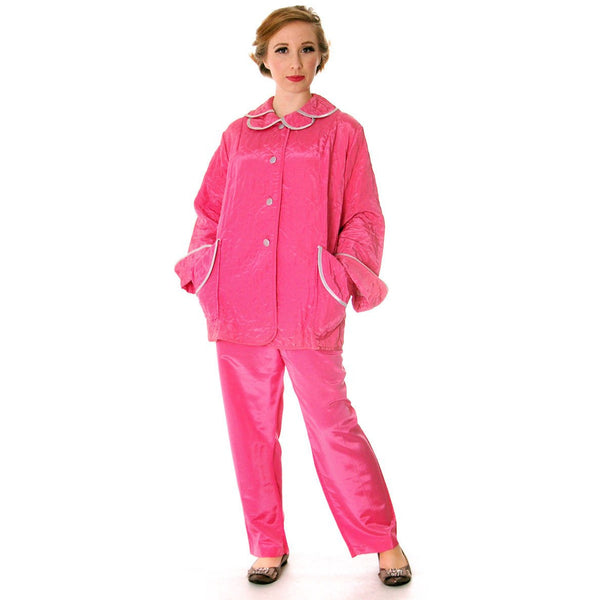 Vintage I Love Lucy Pajamas Womens Fuchsia Lyn Delle 1950s 46-28-40  Medium - The Best Vintage Clothing  - 2