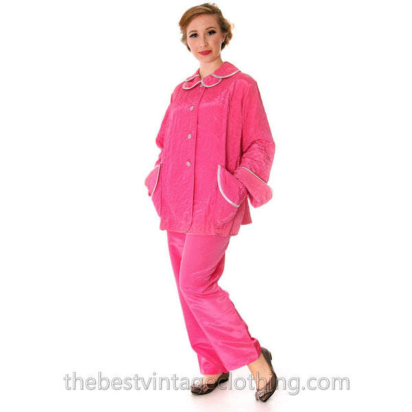 Vintage I Love Lucy Pajamas Womens Fuchsia Lyn Delle 1950s 46-28-40  Medium - The Best Vintage Clothing  - 3