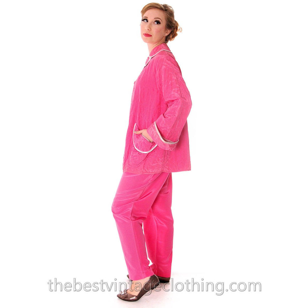 Vintage I Love Lucy Pajamas Womens Fuchsia Lyn Delle 1950s 46-28-40  Medium - The Best Vintage Clothing
