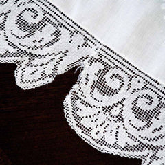 Antique White Linen Cutwork Embroidered  Swiss Appenzell Tablecloth Esso Oil Provenance - The Best Vintage Clothing  - 11