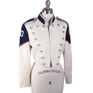Rare VTG 1950's Marching Band Uniform 36R Youth Wool Blue Ivory Medalist Jacket