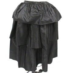 "Vintage 1940s  Skirt  Ruffled  Black Taffeta WOmens  24"" Waist - The Best Vintage Clothing  - 4"