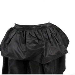 "Vintage 1940s  Skirt  Ruffled  Black Taffeta WOmens  24"" Waist - The Best Vintage Clothing  - 5"