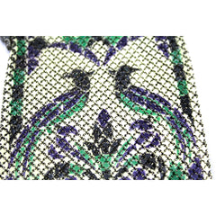 Antique Art Deco MANDALIAN MFG. CO. signed 1920s Mesh Metal Purse Purple Green Birds - The Best Vintage Clothing  - 2