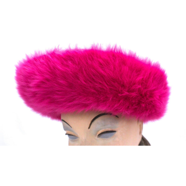 Vintage Ladies Hat Hot Pink Angora Mr. John Junior New w/Tags 1960s - The Best Vintage Clothing  - 3