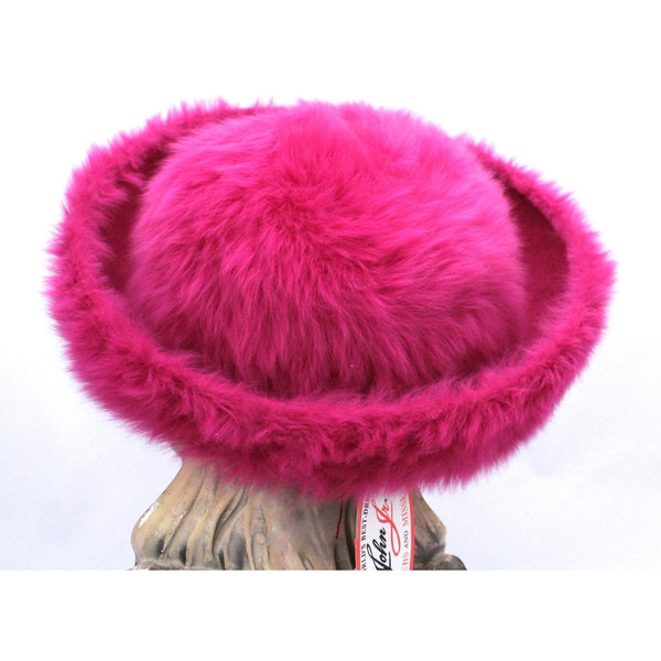Vintage Ladies Hat Hot Pink Angora Mr. John Junior New w/Tags 1960s - The Best Vintage Clothing  - 5