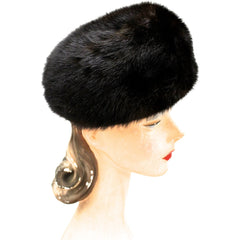 Fabulous Blackglama Black Ranch Mink Full Length Coat Sable Collar Large- Free Matching Hat - The Best Vintage Clothing  - 13