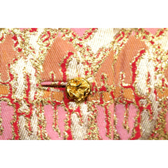 Gino Charles Vintage 60s  Designer Cocktail Jacket Pink Orange Sherbet Colors & Gold Metallic 10 - The Best Vintage Clothing  - 4