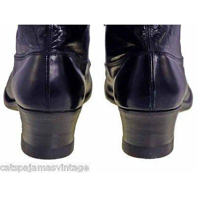 Ladies Black Victorian Kid Leather Boots Walk Over NIB#4  Size EU 36 US 6 NICE - The Best Vintage Clothing  - 8