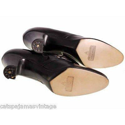 Vintage Womens Black Leather Pumps 1914 Pilgrim Buckle Sz 6 AA/B NIB Campbell - The Best Vintage Clothing  - 8