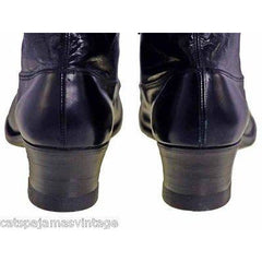 Antique Leather Boots Black Victorian Kid  Walk Over NIB #3 Womens Size EU37 US 6.5 - The Best Vintage Clothing  - 10