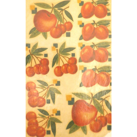 Vintage Kitchen Apt Decals Unused Cherries Apples So Kitschy! 1940s