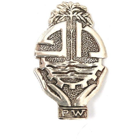 Vintage Sterling Brooch PW Mexico Aztec Style - The Best Vintage Clothing  - 1