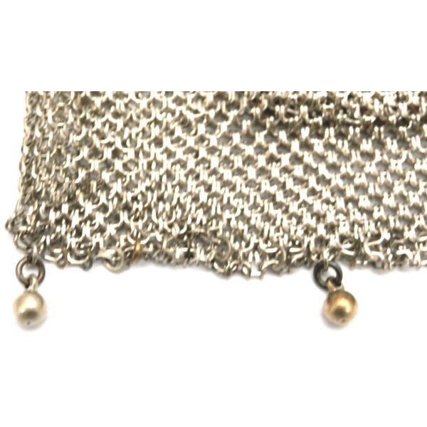 Antique German Silver Metal Mesh Purse w/Inner Change Purse 1870s - The Best Vintage Clothing  - 2