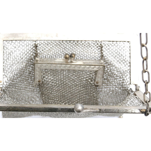 Antique German Silver Metal Mesh Purse w/Inner Change Purse 1870s - The Best Vintage Clothing  - 6