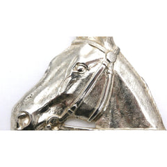Vintage Silver Plated Horse Head Brooch Large 1920s-1930s - The Best Vintage Clothing  - 3