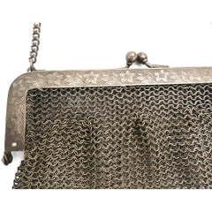 Antique Vintage Bag German Silver Metal Mesh Purse Edwardian - The Best Vintage Clothing  - 2