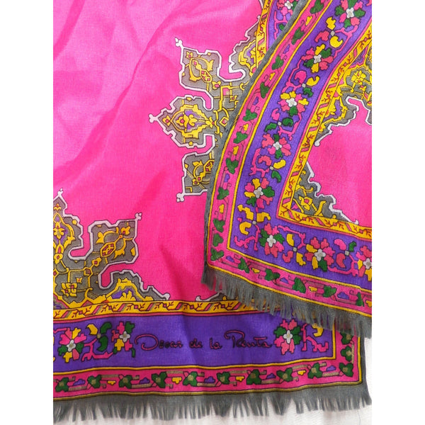 Vintage Oscar De La Renta Silk Scarf Hot Colors Marrakesh Oblong 1970s - The Best Vintage Clothing  - 2