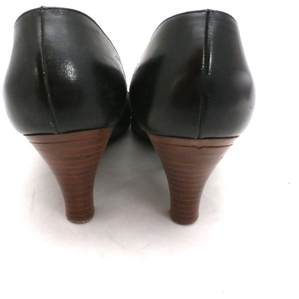 Vintage Shoes  Stiletto Heel Pump Tiny Ackerman Black Leather 1950S Womens  7.5 - The Best Vintage Clothing  - 2