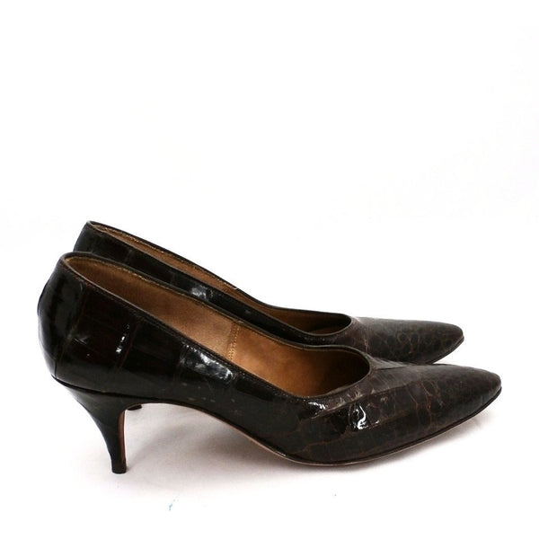 VTG Shoes Heels Genuine Alligator Stiletto Shoes Pumps Womens Sz 5.5 1950S - The Best Vintage Clothing  - 3