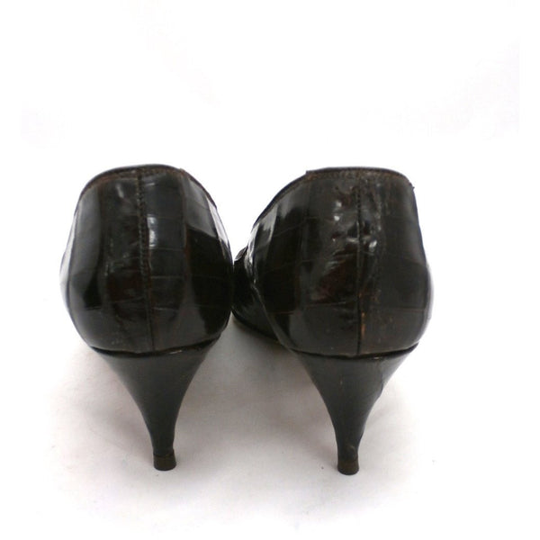 VTG Shoes Heels Genuine Alligator Stiletto Shoes Pumps Womens Sz 5.5 1950S - The Best Vintage Clothing  - 2