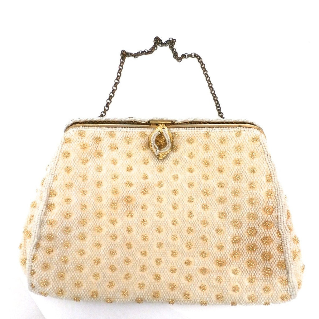 Vintage Evening Bag French  Beaded Purse B.Altman Et Fils  1930S - The Best Vintage Clothing  - 1