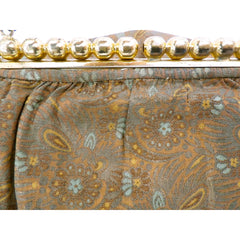 Vintage Gold Metallic Damask Evening Clutch Purse Bag 1930'S - The Best Vintage Clothing  - 4