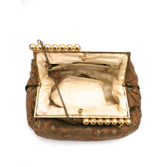 Vintage Gold Metallic Damask Evening Clutch Purse Bag 1930'S - The Best Vintage Clothing  - 3