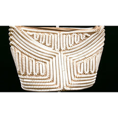 Vintage Handbag Creamy White Telephone Cord Purse White 1940s - The Best Vintage Clothing  - 5