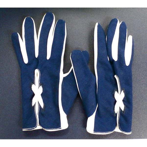 Vintage Womens Gloves Navy Blue & White Laced Small - The Best Vintage Clothing  - 3