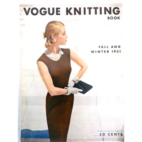 1951 VOGUE Knitting Crochet Patterns Dresses Blouses Bathing Suit Hats
