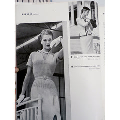 1951 Vogue Knitting Crochet Patterns Dresses Blouses