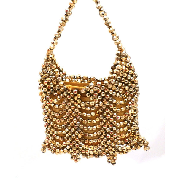 Vintage Gold Beaded Purse Alfredo Picchi 1960s - The Best Vintage Clothing  - 2