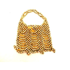 Vintage Gold Beaded Purse Alfredo Picchi 1960s - The Best Vintage Clothing  - 4