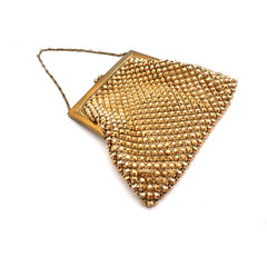 Vintage 1920s Purse Handbag Art Deco Whiting Davis Gold Beads - The Best Vintage Clothing  - 2