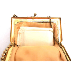Vintage 1920s Purse Handbag Art Deco Whiting Davis Gold Beads - The Best Vintage Clothing  - 3