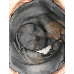 Antique 1920s CLoche Hat Copper Colored Silk Velvet & Taffeta Large - The Best Vintage Clothing  - 5
