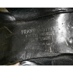 Vintage Ladies Black Leather Pumps  Size 6 Frank Bros Fifth Ave 1920s - The Best Vintage Clothing  - 3