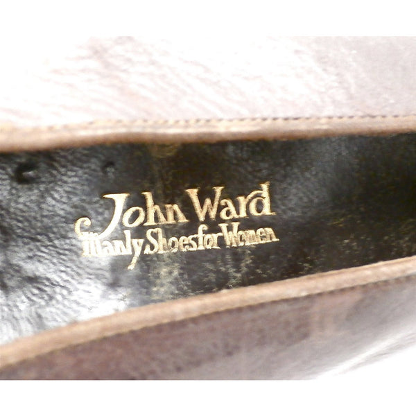 Vintage Ladies Shoes Pumps Brown Leather Late Teens-Early 1920s Size 6B John Ward - The Best Vintage Clothing  - 4
