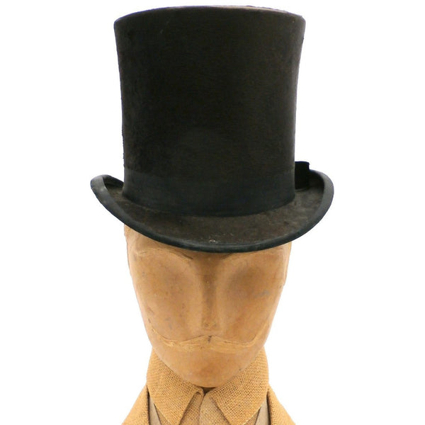 Antique Mens Stove Pipe Top Hat Silk Shelton & Co London 1870s - The Best Vintage Clothing  - 1