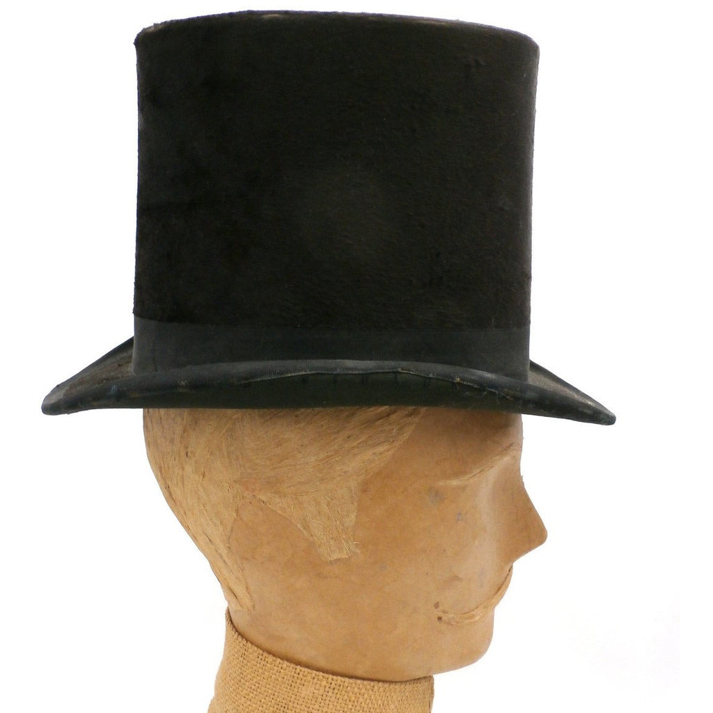 077c16e3d0c ... Antique Mens Stove Pipe Top Hat Silk Shelton   Co London 1870s - The  Best Vintage ...